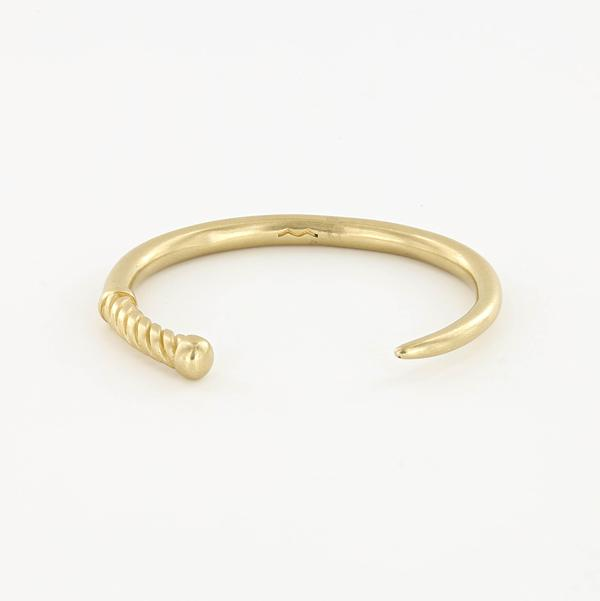 Fid Cuff Bracelet in Raw Brass