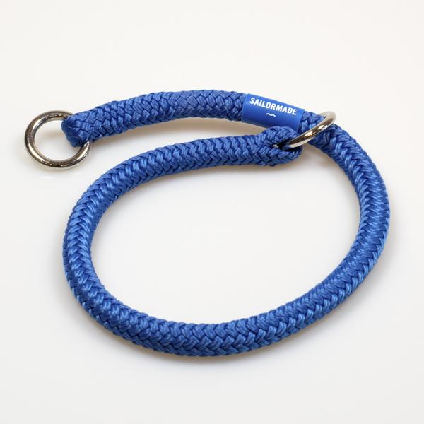 Riptide Reggie Rope Dog Collar in Bright Blue