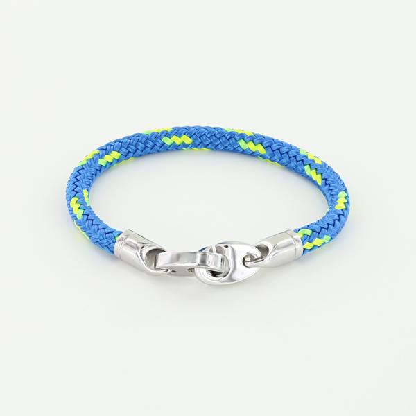 Volley Single Wrap Rope Bracelet with Stainless Steel Brummels in ocean neon green Braided Rope