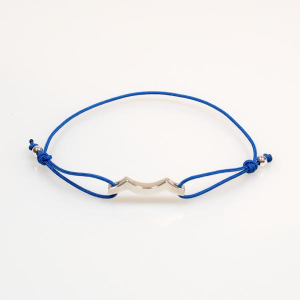 Tidal Wave Bracelet in Sterling Silver Dark Blue