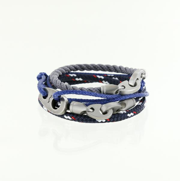 men's nautical rope bracelets with stainless steel hardware