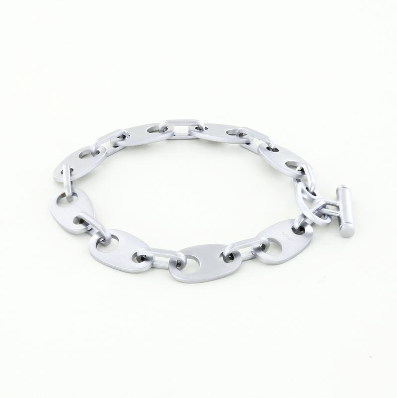 Brummel Links Chain Bracelet in Matte Silver