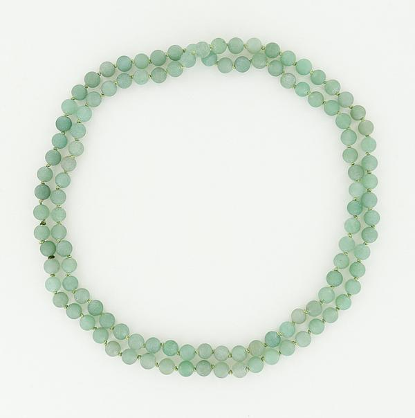 8mm green aventurine necklace 45""