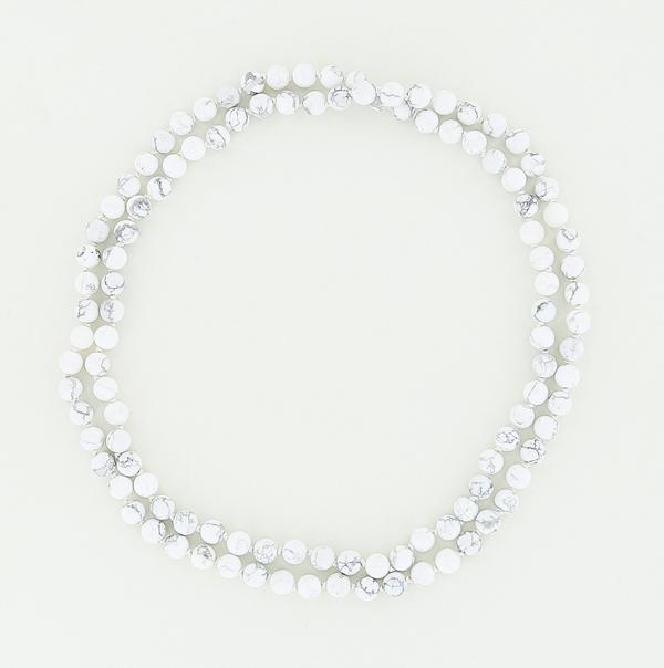 8mm howlite necklace 45""