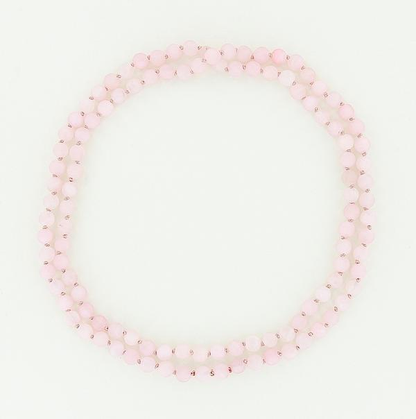 8mm rose quartz necklace 45""