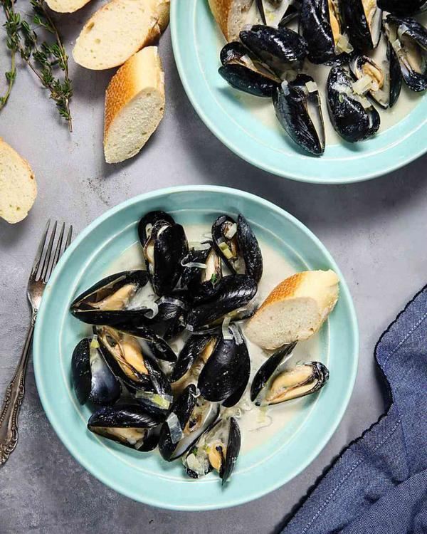 Apple Cider Mussels