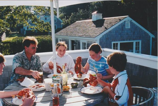 Lobster feast on cape cod