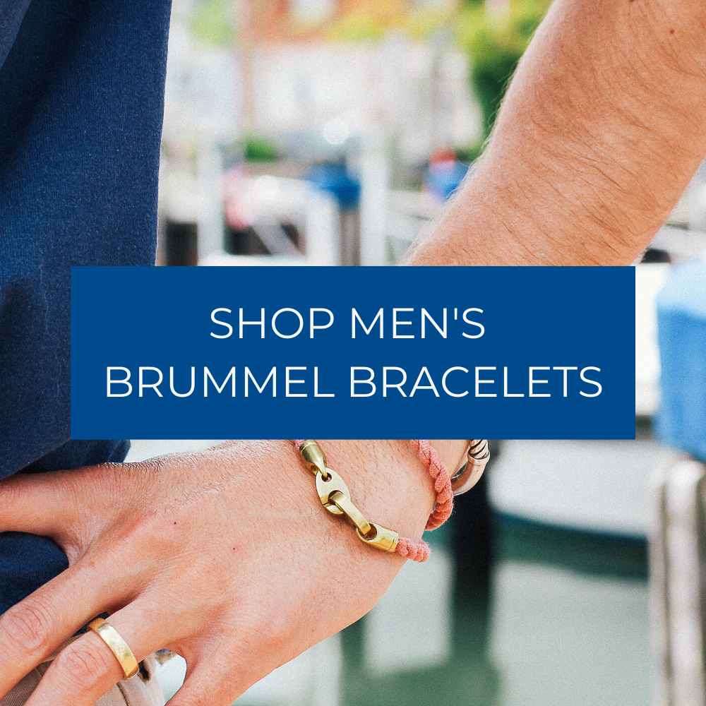 shop men's brummel bracelets with rope wraps