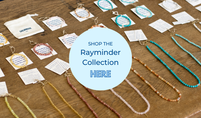 sailormade rayminder uv awareness bracelets and necklaces for sun safety