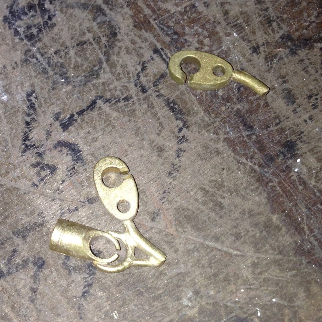 cast brass brummel pieces