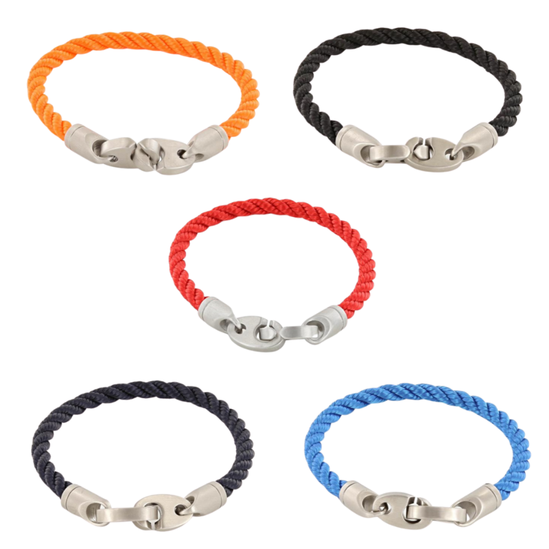 stainless steel single rope bracelet for men