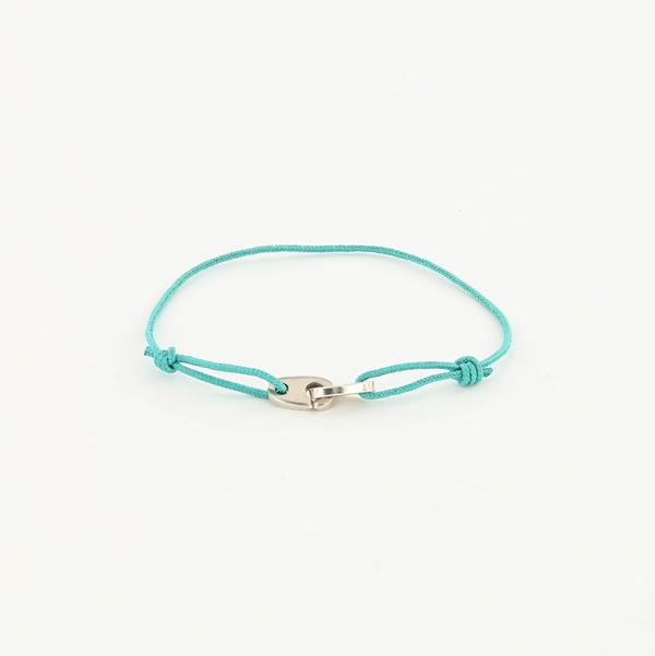 Mini Brummel Rope Bracelet in Sterling Silver turquoise