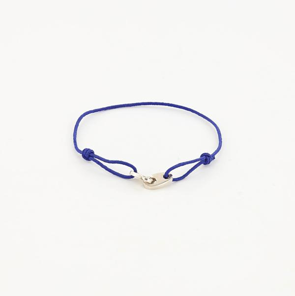 Mini Brummel Rope Bracelet in Sterling Silver royal blue