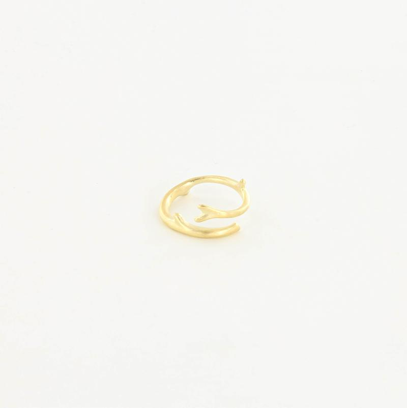 Coral Reef Ring in Brushed 14kt Gold
