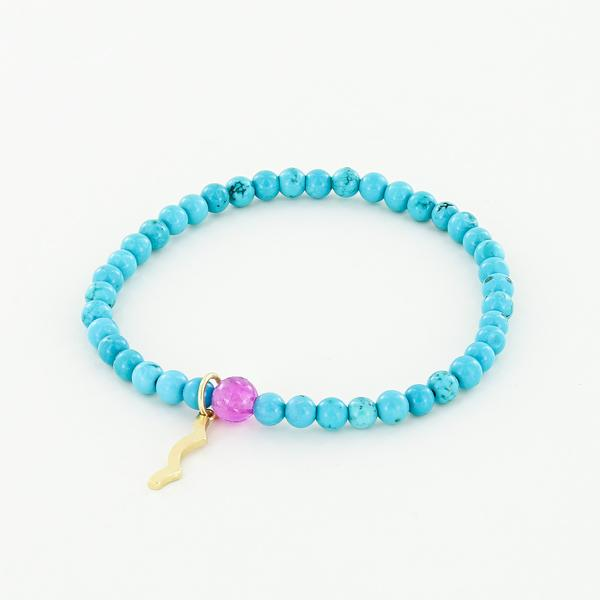 Sun Safety UV Awareness Bracelet Turquoise Rayminder