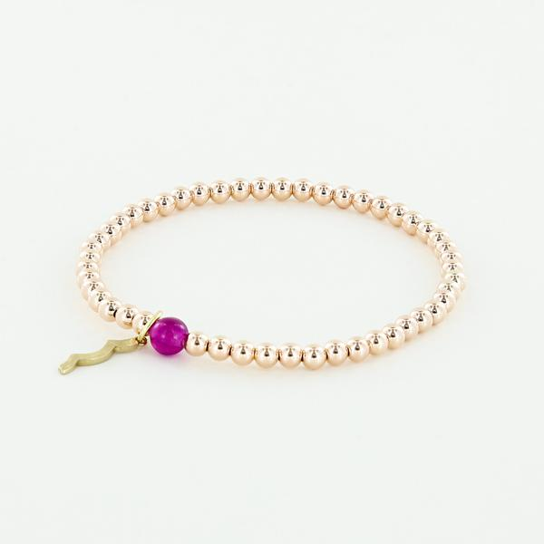 Rayminder UV Awareness Bracelet for sun safety in 4mm Rose Gold