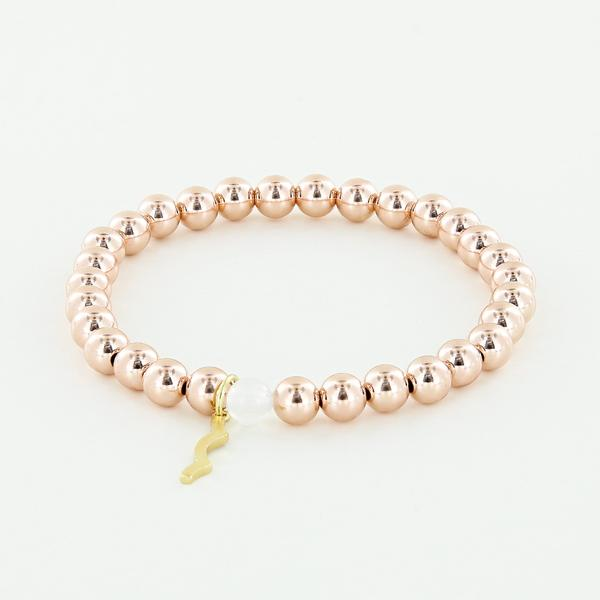 Rayminder UV Awareness Bracelet for sun safety in 6mm Rose Gold