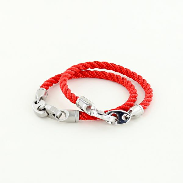 his and her nautical rope bracelets for sailors and boater