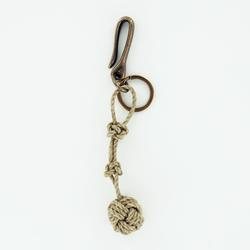 Main Street Knot Keychain With Antique Brass Fish Hook
