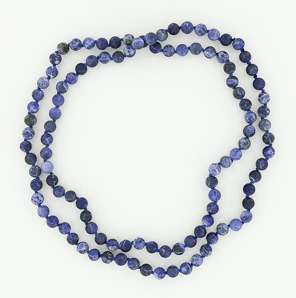 8mm sodalite necklace 45""